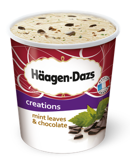 Häagen-Dazs Eiscreme Mint Leaves Chocolate<sup>c,g,f,9</sup>